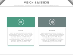 Business Vision And Mission For Growth Powerpoint Slides