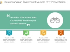 Business Vision Statement Example Ppt Presentation