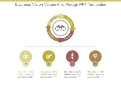 Business Vision Values And Pledge Ppt Templates