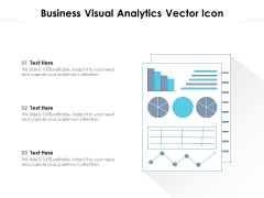 Business Visual Analytics Vector Icon Ppt PowerPoint Presentation Pictures Background PDF