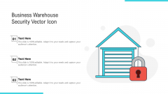 Business Warehouse Security Vector Icon Ppt PowerPoint Presentation Gallery Vector PDF