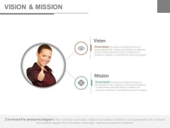 Business Woman With Vision And Mission Powerpoint Slides