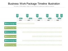 Business Work Package Timeline Illustration Ppt PowerPoint Presentation Gallery Ideas PDF