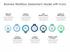Business Workflow Assessment Model With Icons Ppt PowerPoint Presentation File Demonstration PDF