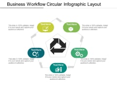 Business Workflow Circular Infographic Layout Ppt PowerPoint Presentation File Display PDF
