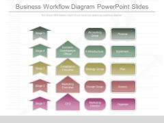 Business Workflow Diagram Powerpoint Slides