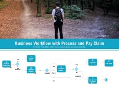 Business Workflow With Process And Pay Claim Ppt PowerPoint Presentation Show Backgrounds PDF