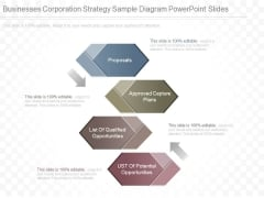 Businesses Corporation Strategy Sample Diagram Powerpoint Slides