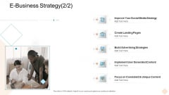 Businesses Digital Technologies E Business Strategy Demonstration PDF