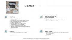 Businesses Digital Technologies E Shops Ppt Slides Visuals PDF