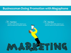 Businessman Doing Promotion With Megaphone Ppt PowerPoint Presentation Model Display PDF