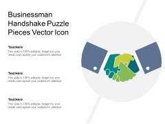 Businessman Handshake Puzzle Pieces Vector Icon Ppt PowerPoint Presentation Visual Aids Show PDF