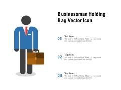 Businessman Holding Bag Vector Icon Ppt PowerPoint Presentation Model Slides