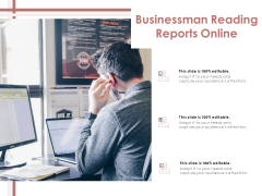 Businessman Reading Reports Online Ppt PowerPoint Presentation Inspiration Gallery