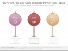 Buy Rent And Sell Adds Template Powerpoint Topics