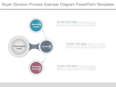 Buyer Decision Process Example Diagram Powerpoint Templates
