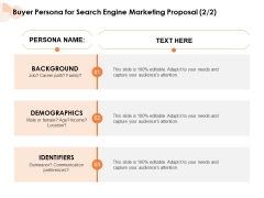 Buyer Persona For Search Engine Marketing Proposal Communication Ppt PowerPoint Presentation Slides PDF