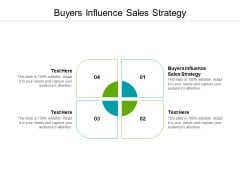 Buyers Influence Sales Strategy Ppt PowerPoint Presentation Ideas Templates Cpb Pdf