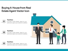 Buying A House From Real Estate Agent Vector Icon Ppt PowerPoint Presentation File Design Inspiration PDF