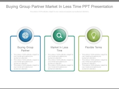 Buying Group Partner Market In Less Time Ppt Presentation