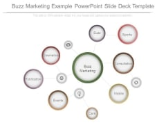 Buzz Marketing Example Powerpoint Slide Deck Template