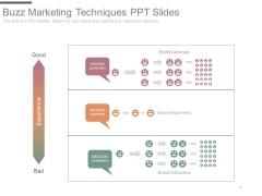 Buzz Marketing Techniques Ppt Slides