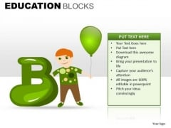B For Balloon School PowerPoint Templaes Ppt Slides