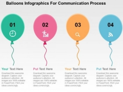 Balloons Infographics For Communication Process PowerPoint Templates