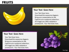 Bananas And Grapes PowerPoint Templates