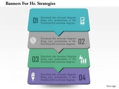 Banners For Hr Strategies PowerPoint Template