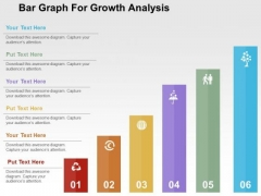 Bar Graph For Growth Analysis PowerPoint Template