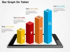 Bar Graph On Tablet PowerPoint Templates