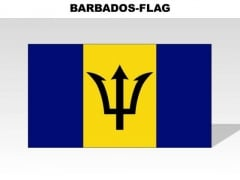 Barbados Country PowerPoint Flags