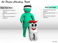 Basic Marketing Concepts 3d Doctor Checking Tooth Business