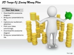 Basic Marketing Concepts 3d Image Of Saving Money Plan Business Statement
