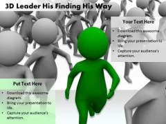 Basic Marketing Concepts 3d Leader His Finding Way Business Statement