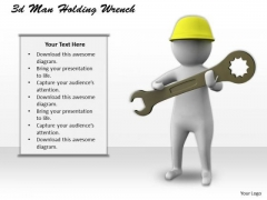 Basic Marketing Concepts 3d Man Holding Wrench Character Models