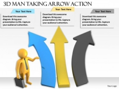 Basic Marketing Concepts 3d Man Taking Arrow Action Character