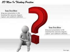 Basic Marketing Concepts 3d Man Thinking Position Character