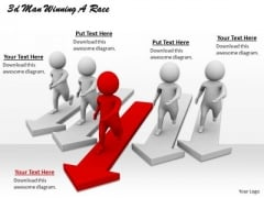 Basic Marketing Concepts 3d Man Winning Race Character Modeling
