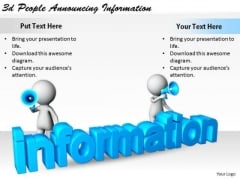 Basic Marketing Concepts 3d People Announcing Information Business