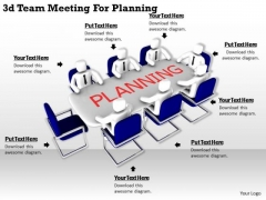 Basic Marketing Concepts 3d Team Meeting For Planning Business