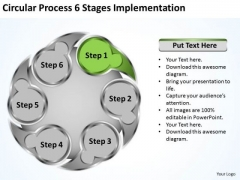 Basic Marketing Concepts Circluar Process 6 Stages Implementation Ppt Business Expansion Strategy