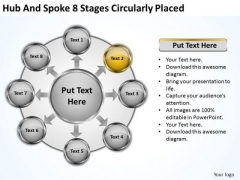 Basic Marketing Concepts Hub And Spoke 8 Stages Circularly Placed Ppt Business Planning Strategy