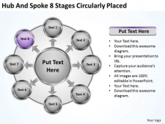 Basic Marketing Concepts Hub And Spoke 8 Stages Circularly Placed Ppt It Business Strategy