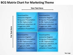 Bcg Matrix Chart For Marketing Theme Business Plan PowerPoint Slides