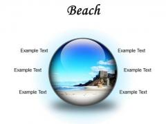 Beach Holidays PowerPoint Presentation Slides C