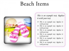 Beach Items Holidays PowerPoint Presentation Slides S