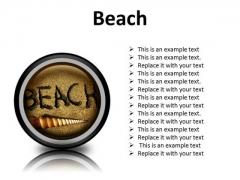 Beach Shell Holidays PowerPoint Presentation Slides Cc