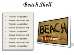 Beach Shell Holidays PowerPoint Presentation Slides F
